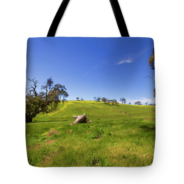 Tote Bag featuring the photograph The Distant Hill by Douglas Barnard