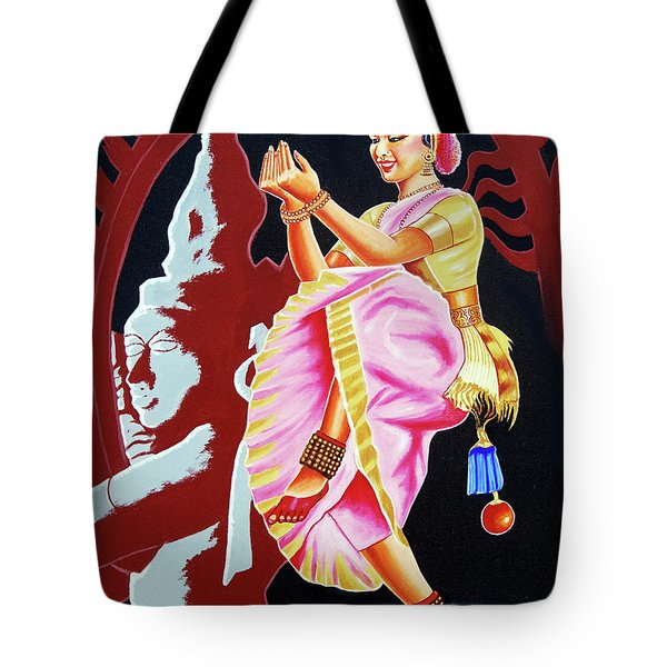 The Divine Dance Of Bharatanatyam Tote Bag by Ragunath Venkatraman