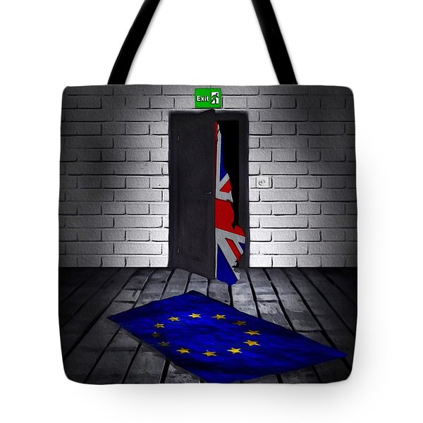 Tote Bag featuring the painting The Divorce by Mark Taylor