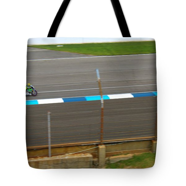 The Doctor At Indy  Valentino Rossi  Tote Bag