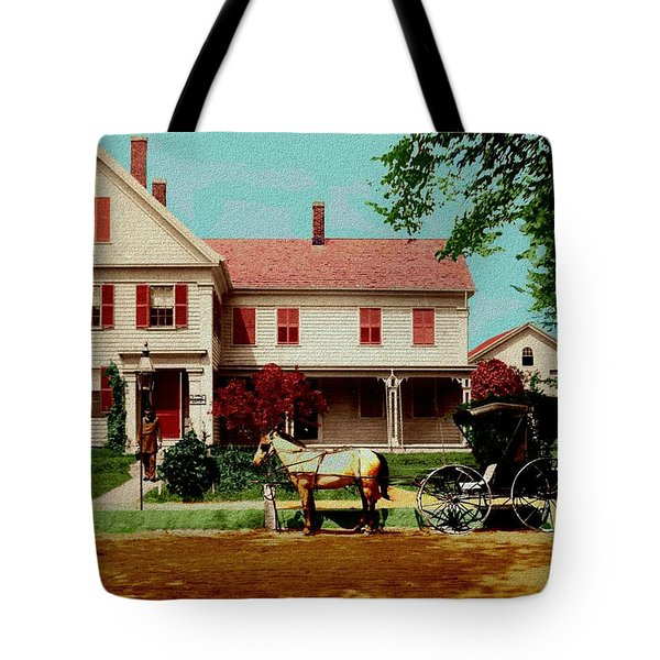 The Doctor Heads Out On A House Call Tote Bag