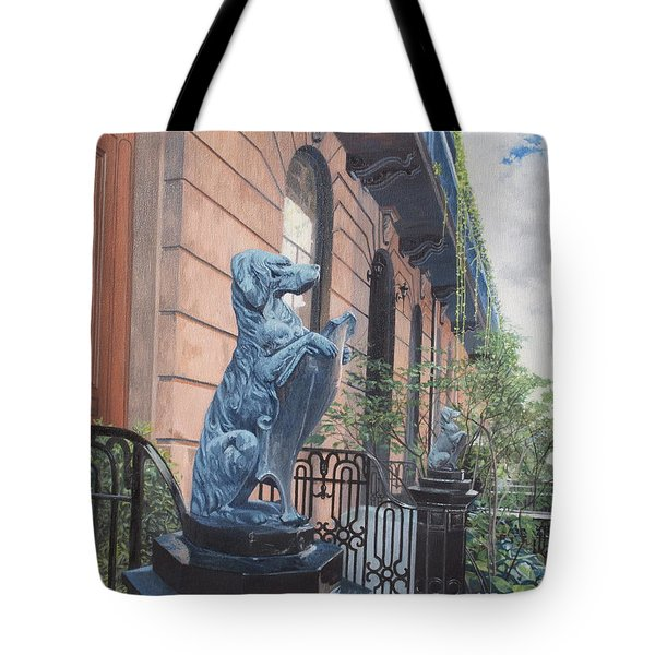 The Dogs On West Tenth Street, New York, Ny  Tote Bag