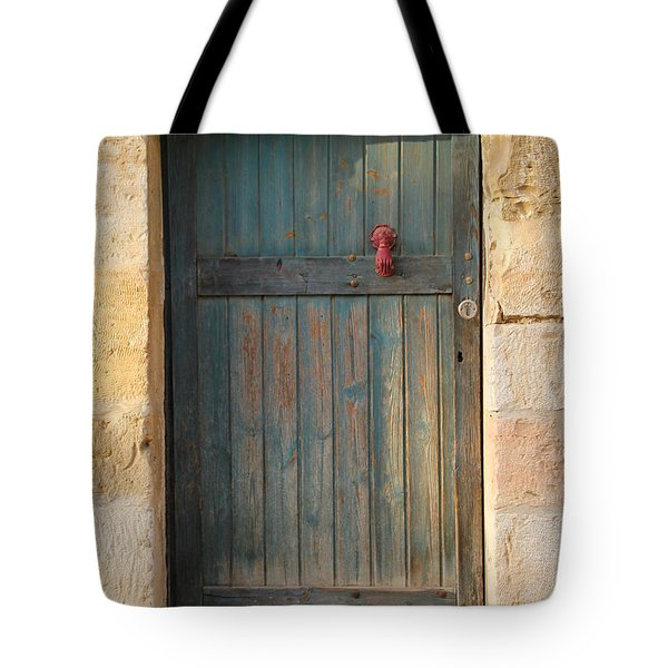 The Door And The Hand Tote Bag by Yoel Koskas