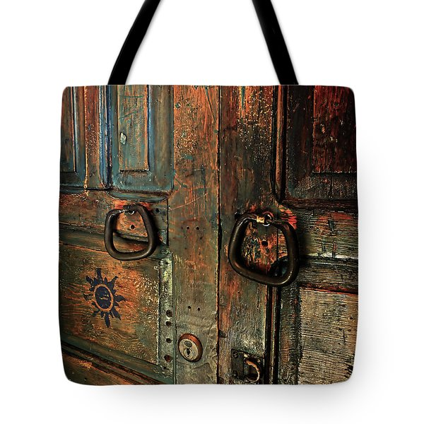The Door Of Many Colors Tote Bag