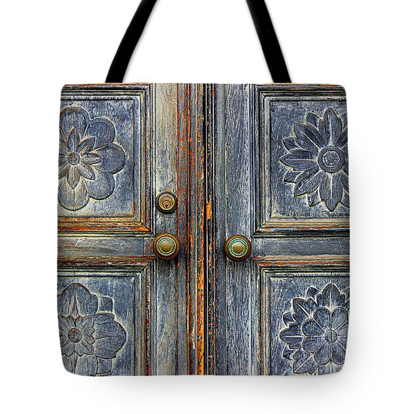 Tote Bag featuring the photograph The Door by Ranjini Kandasamy