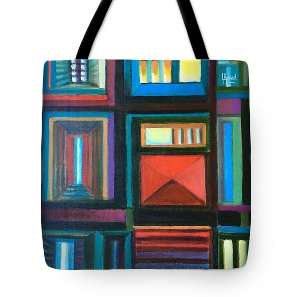 Tote Bag featuring the painting The Doors Of Hope  by Laila Awad Jamaleldin