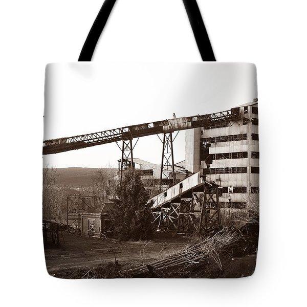The Dorrance Coal Breaker Wilkes Barre Pennsylvania 1983 Tote Bag