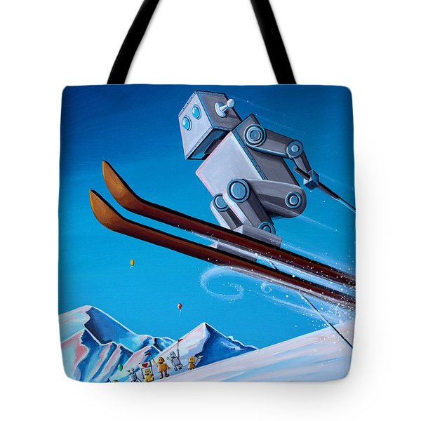 The Downhill Race Tote Bag