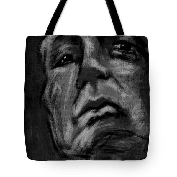 The Downward Gaze Tote Bag