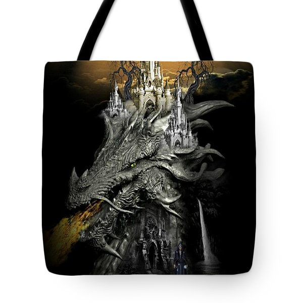 The Dragons Castle Tote Bag by Ali Oppy