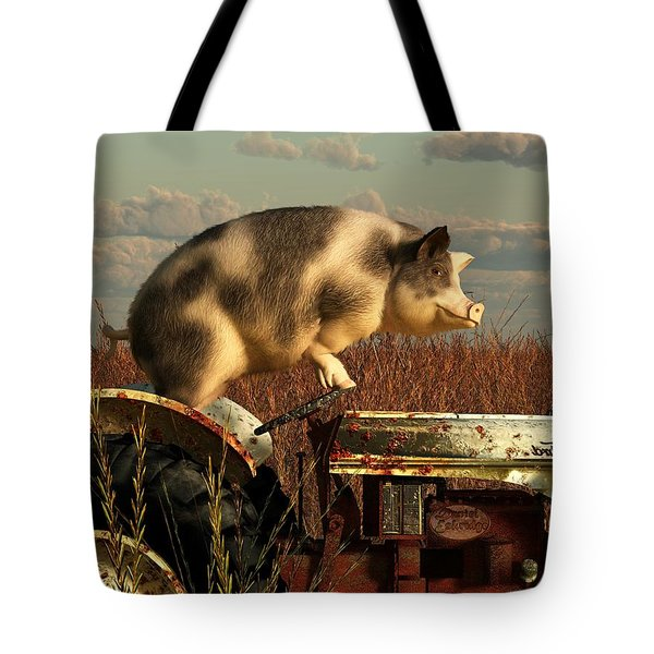 The Dream Of A Pig Tote Bag by Daniel Eskridge