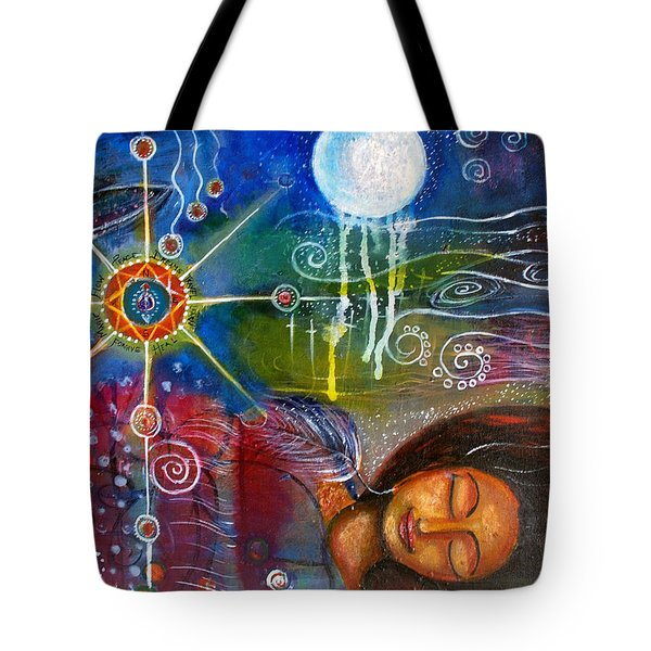 Tote Bag featuring the painting The Dreamer by Prerna Poojara