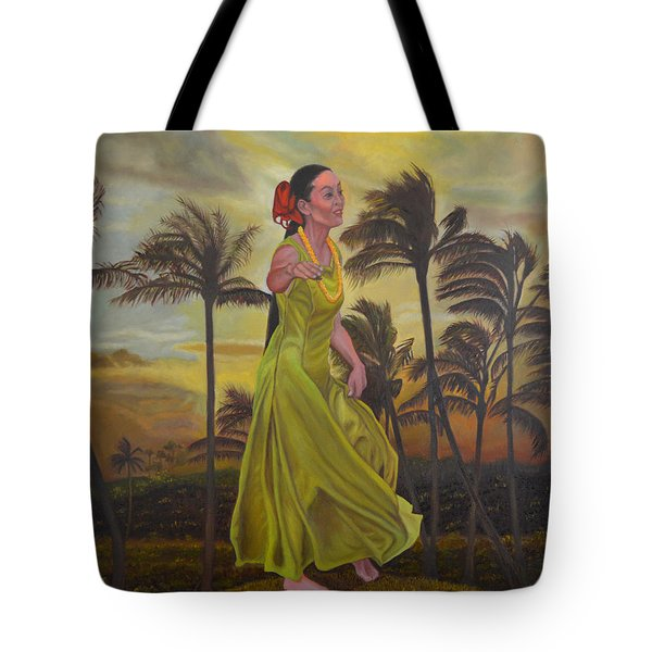 The Green Dress Tote Bag