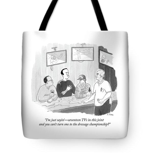The Dressage Fan Tote Bag