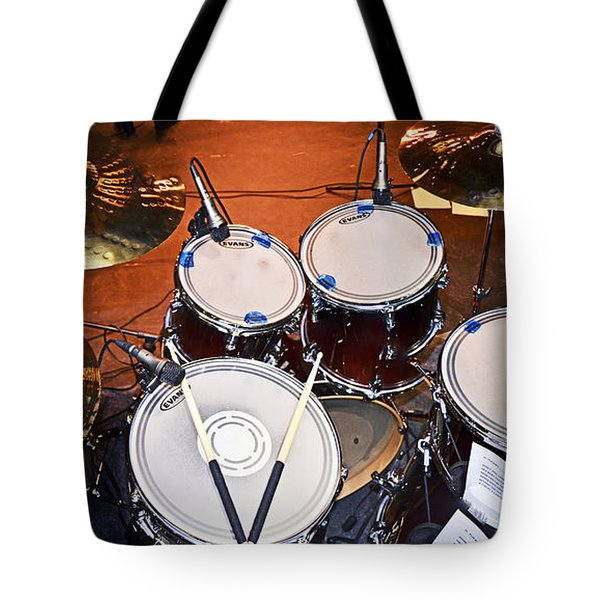 The Drum Set Tote Bag