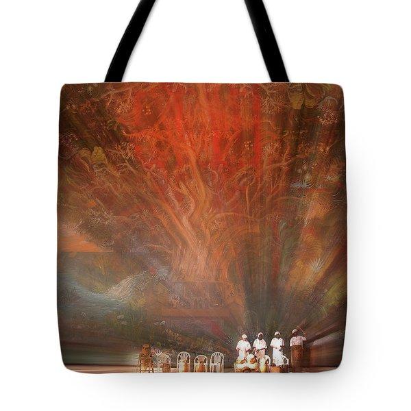 The Drumbeat Rising Tote Bag
