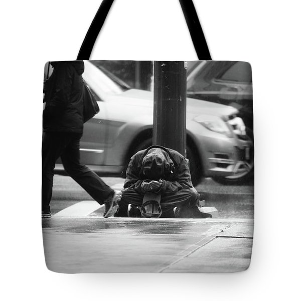 Tote Bag featuring the photograph The Dry People by Empty Wall