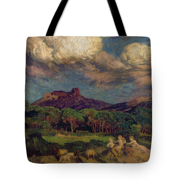 The Dryads Tote Bag by Marie Auguste Emile Rene Menard