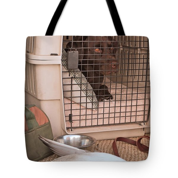 The Duck Dog Tote Bag by Donna Greene