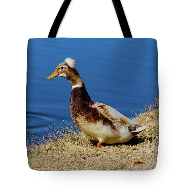 The Duck With The Pillbox Hat Tote Bag