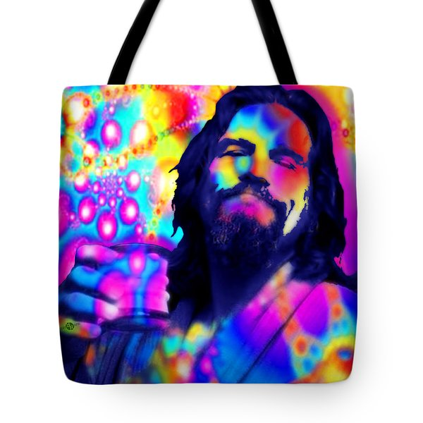 The Dude The Big Lebowski Jeff Bridges Tote Bag by Tony Rubino