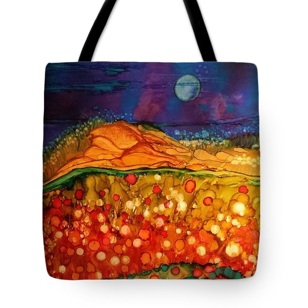The Dunes At Night Tote Bag