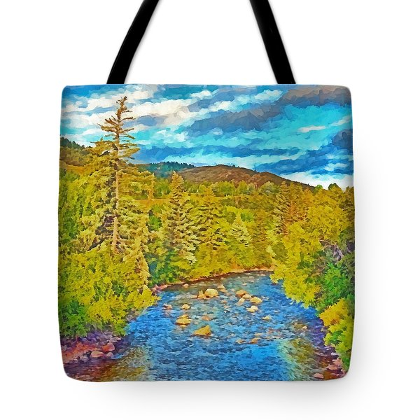 The Eagle River In Early Fall Tote Bag