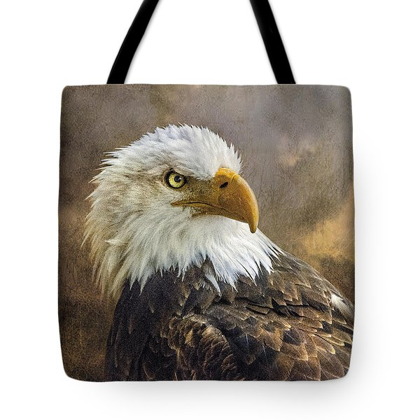 The Eagle's Stare Tote Bag by Brian Tarr