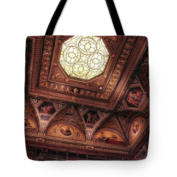 Tote Bag featuring the photograph The East Room Ceiling by Jessica Jenney
