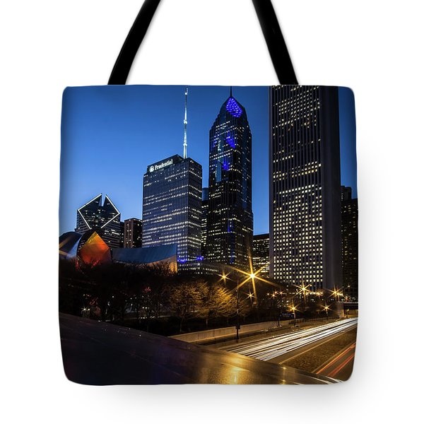 The East Side Skyline Of Chicago  Tote Bag