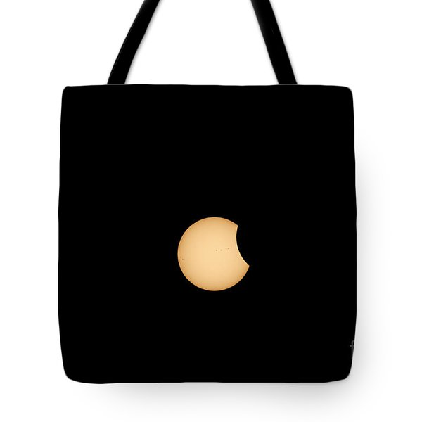 The Eclipse Begins Tote Bag