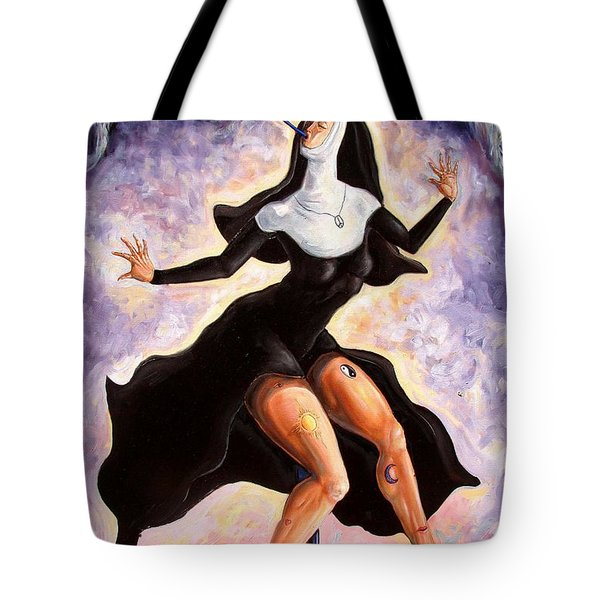The Ecstasy Of Mother Liberation  Tote Bag by Darwin Leon