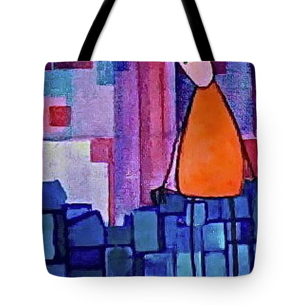 Tote Bag featuring the painting The Edge by Donna Howard