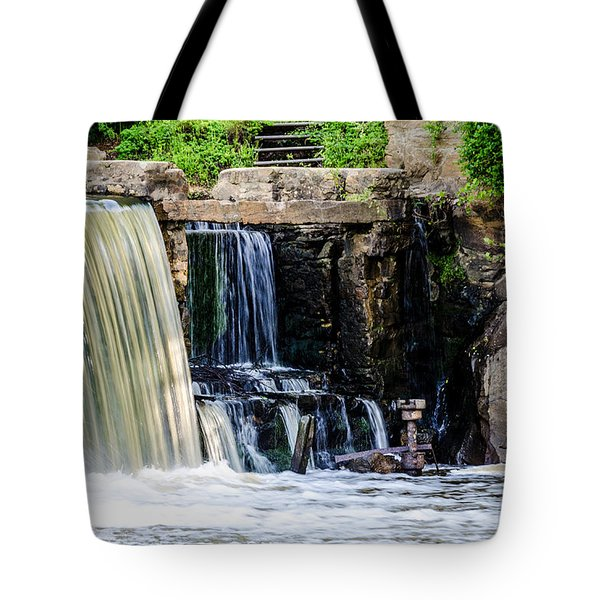 The Edge Of A Waterfall Tote Bag