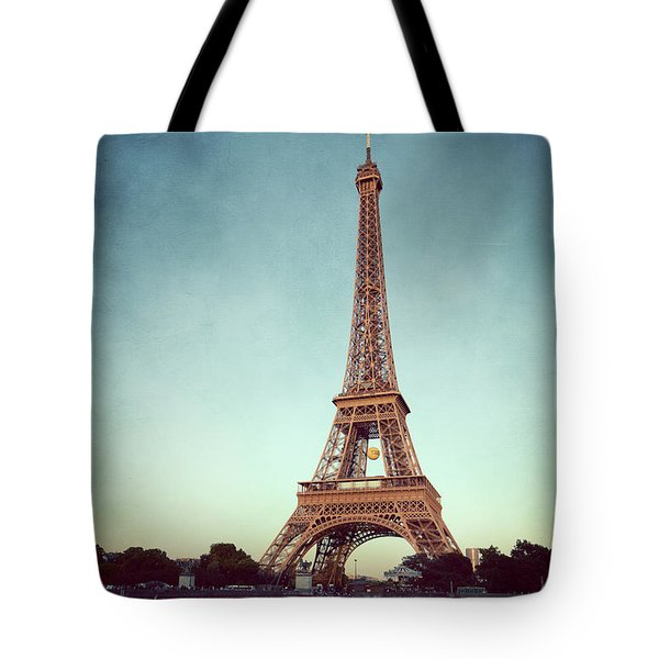 Tote Bag featuring the photograph The Eifeltower by Hannes Cmarits