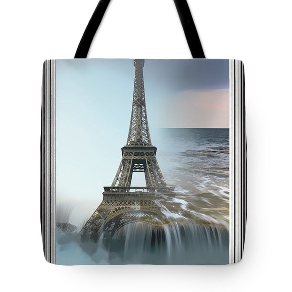 The Eiffel Tower In Montage Tote Bag