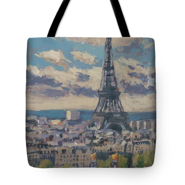The Eiffel Tower Paris Tote Bag