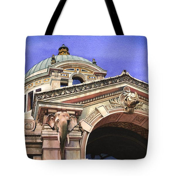The Elephant House Bronx Zoo Tote Bag by Marguerite Chadwick-Juner