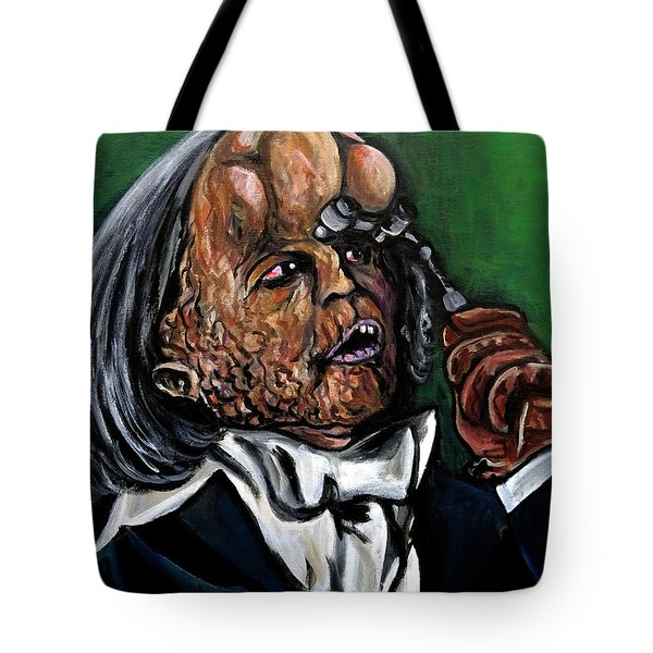 The Elephant Man Tote Bag by Jose Mendez