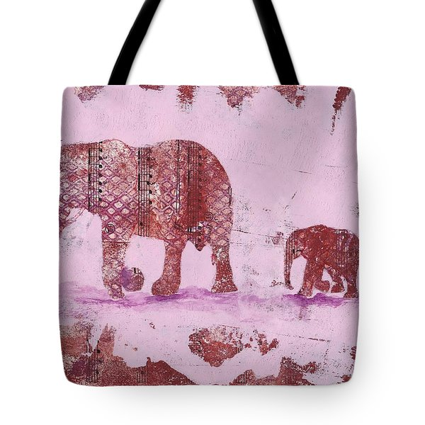 The Elephant March Tote Bag