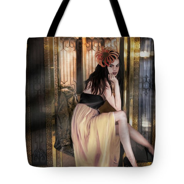 The Elevator Girl Tote Bag