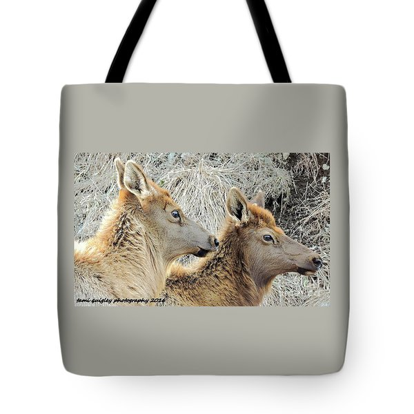 The Elk Of Winter  Tote Bag