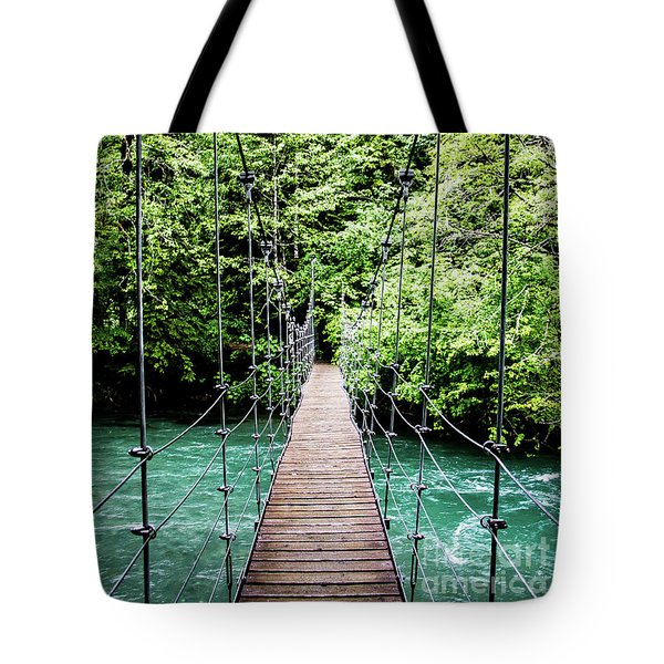 The Emerald Crossing Tote Bag