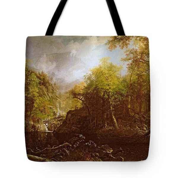 The Emerald Pool Tote Bag by Albert Bierstadt