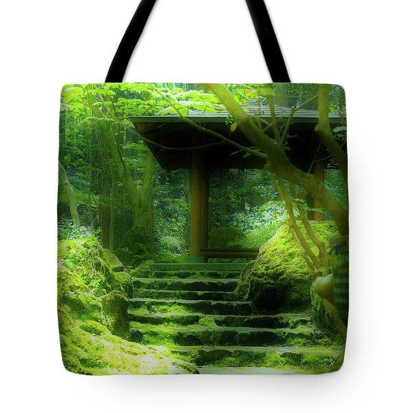 The Emerald Stairs Tote Bag