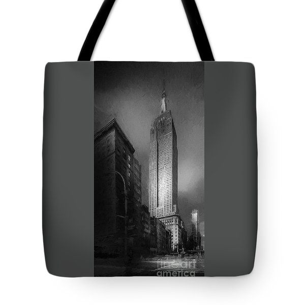 Tote Bag featuring the photograph The Empire State Ch by Marvin Spates