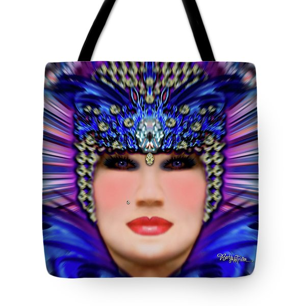 Tote Bag featuring the photograph The Empress Barbaka #192 by Barbara Tristan
