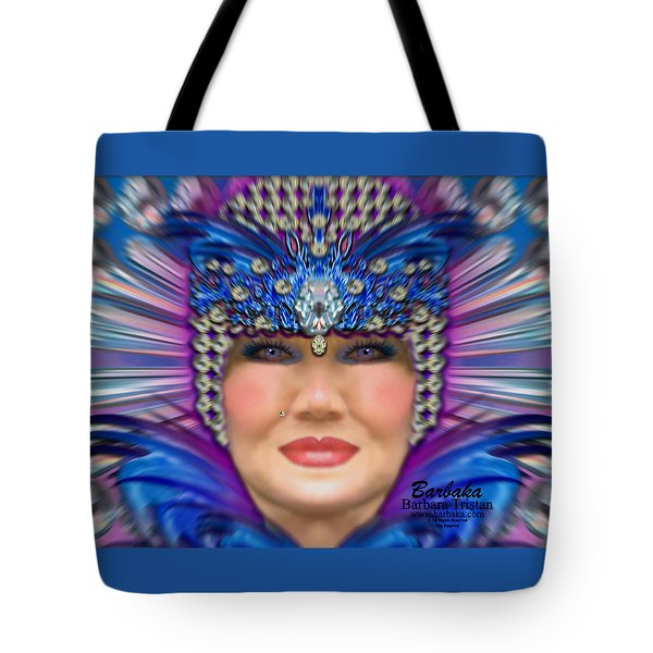 Tote Bag featuring the photograph The Empress by Barbara Tristan