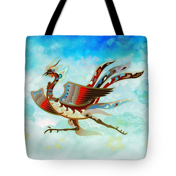 The Empress - Flight Of Phoenix - Blue Version Tote Bag
