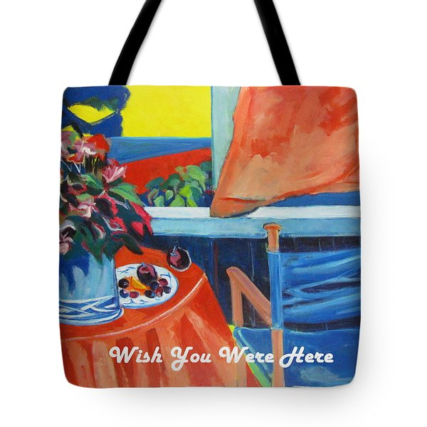The Empty Blue Canvas Chair Tote Bag